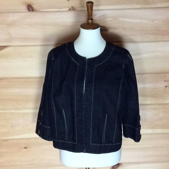 33c9622f0e24c Cato open front dark denim jacket XL Looks new